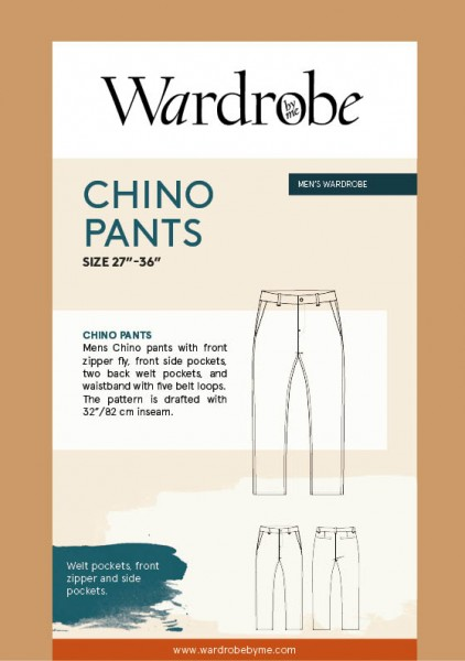 Men's Chino Pants, Papierschnitt,Wardrobe by me,Deckblatt