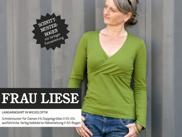 FRAU LIESE • Shirt in Wickeloptik, Papierschnitt, Deckblatt