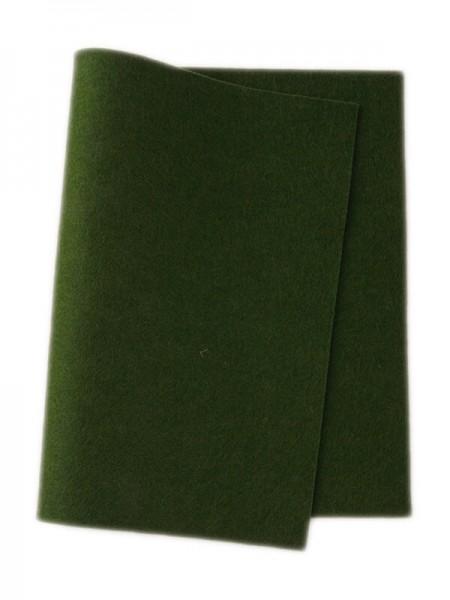Wollfilz dunkel blattgrün • 100 % reine Wolle