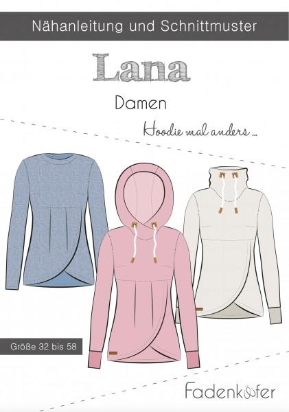 Hoodie Lana Damen,Papierschnitt,Fadenkäfer,Deckblatt mit Skizzen