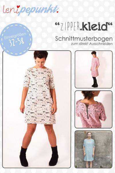 101 ZIPPER.kleid,Papierschnitt,Leni Pepunkt,Deckblatt mit Beispielbildern von Frauen Kleid