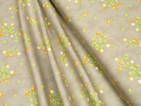 Moda Fabrics Sundrops Taupe 29011 24 Floral Blossoms Tan Baumwoll Stoff