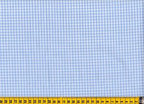 Vichykaro in hellblau 3/3mm Baumwollstoff