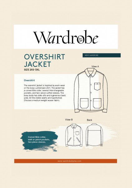 Men's Overshirt,Papierschnitt,Wardrobe by me,Deckblatt