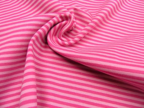 Bündchen rosa/pink Baumwoll Jersey glatt gestreift OEKO-TEX® Standard 100