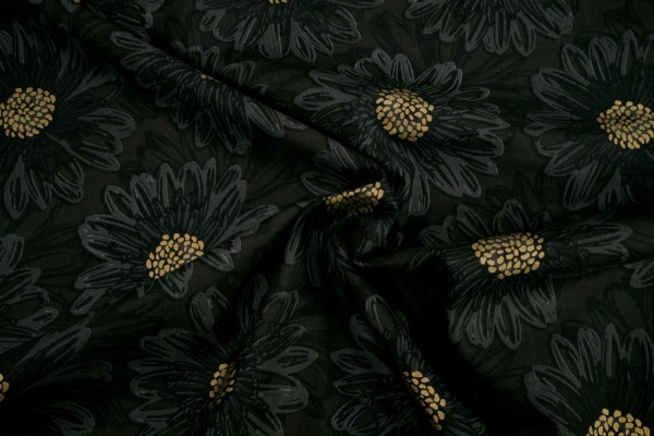 RJR Fabrics Shiny Objects Good as Gold Embossed Blooms by Flaurie Finch