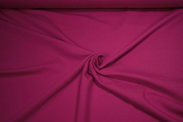 Baumwoll Jersey uni dunkel pink
