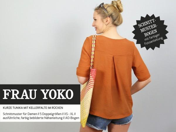 FRAU YOKO • kurze Tunika, Papierschnitt, Deckblatt