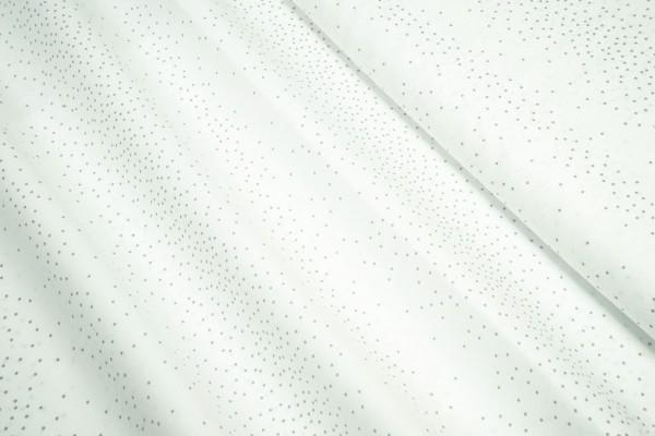 BIO Baumwollstoff C. Pauli Voile Paris wild dots Punkte grau auf weiß