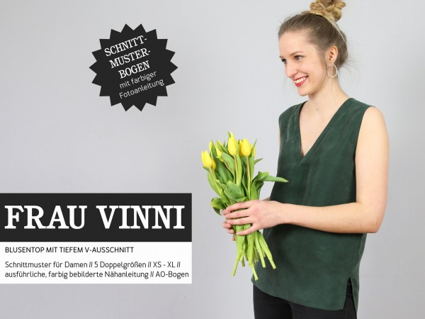 FRAU VINNI • Blusentop, Papierschnitt, Deckblatt