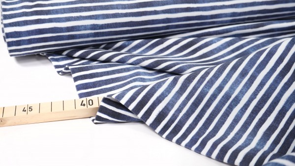 Baumwolljersey • Navy Stripes • by Stenzo