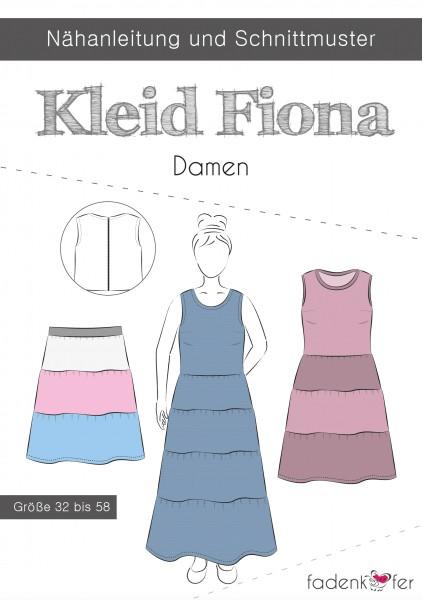 Kleid Fiona Damen,Papierschnitt,Fadenkäfer,Deckblatt mit Skizzen
