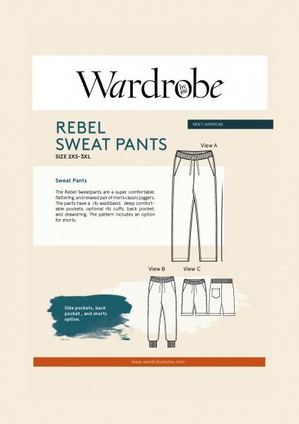 Men's Rebel Sweat Pants,Papierschnitt,Wardrobe by me,Deckblatt
