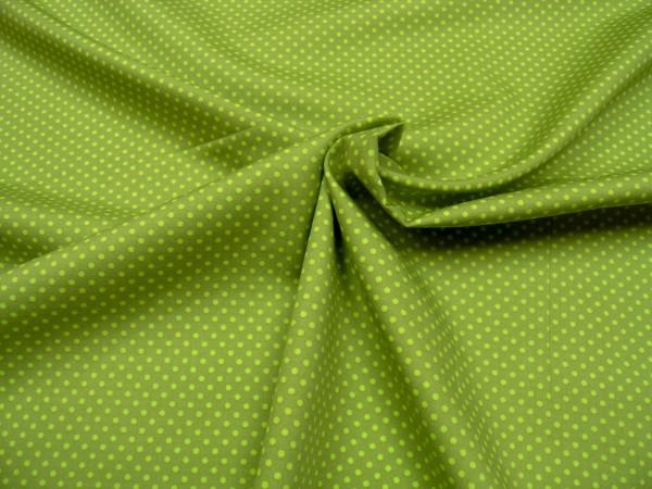 Baumwollstoff • Minidots • oliv / lemon