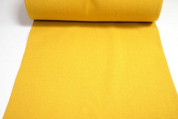 Bündchen Lurex dunkel gelb + kupfer glitzer