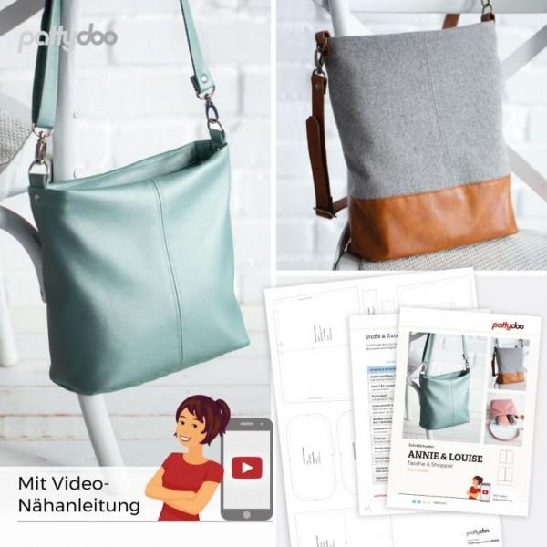 Tasche und Shopper Ann und Louise • Papierschnittmuster • by Pattydoo