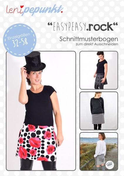 105 EASYPEASY.ROCK,Papierschnitt,Leni Pepunkt,Deckblatt mit Beispielbildern von Frauen in Röcken
