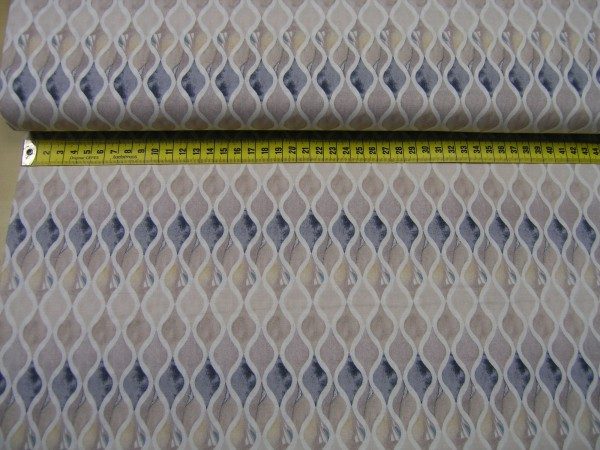 Quilting Treasures • Tres Chic • Wavy Geometric • Baumwoll Stoff