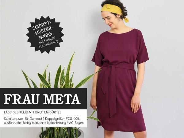 FRAU META • lässiges Kleid mit breitem Gürtel, Papierschnitt, Deckblatt