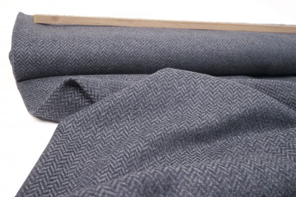 Tweed Diego Fischgrat stahlblau made in Italy