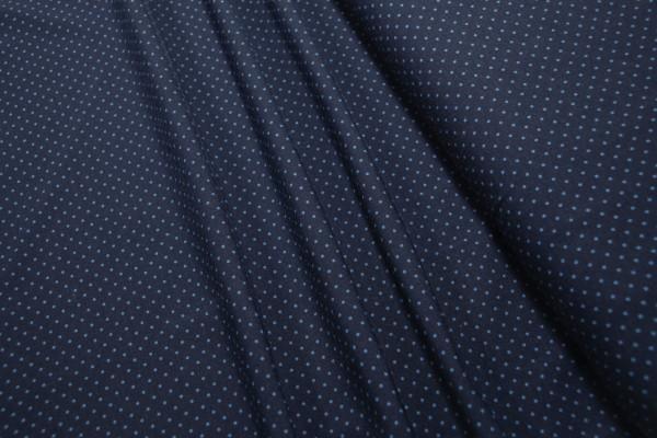 Jersey Little Darling hellblaue mini Punkte auf dunkelblau