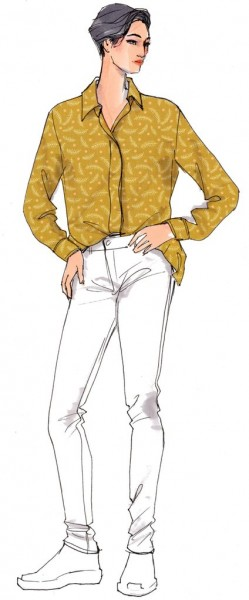 Hemdbluse Hanifa • Damen • Papierschnittmuster