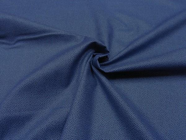 Baumwollstoff • Minidots • hellblau/blau
