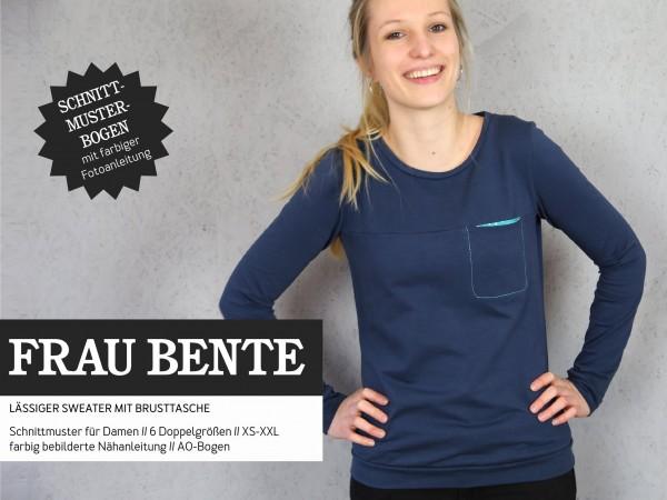 FRAU BENTE • Sweater mit Brusttasche, Papierschnitt, Deckblatt