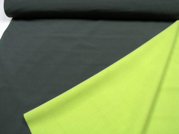 Softshell uni dunkelgrau / apfelgrün