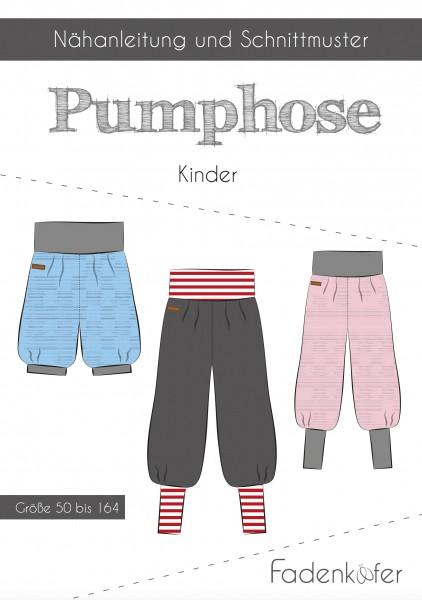 Pumphose Kinder,Papierschnitt,Fadenkäfer,Deckblatt mit Skizzen