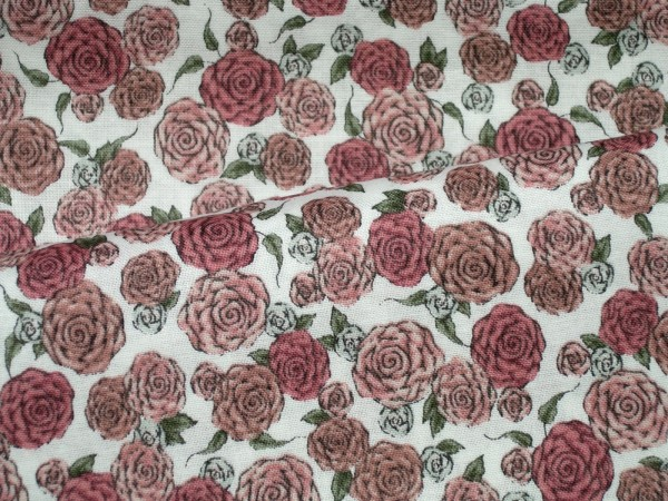 Quilting Treasure Santoro Mirabelle ALL FOR LOVE Roses in White