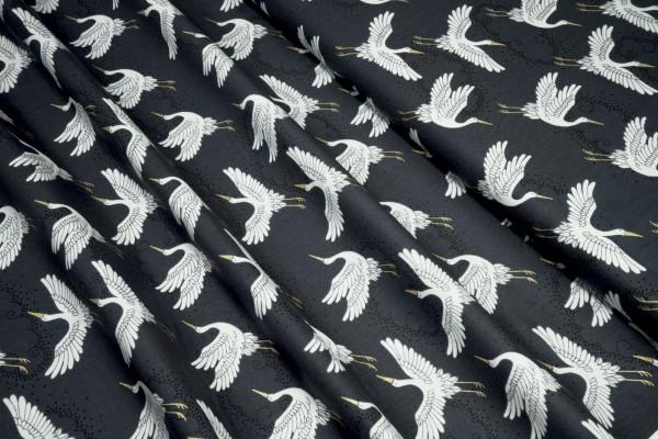 makower Kimono Cranes grau 2044 Q