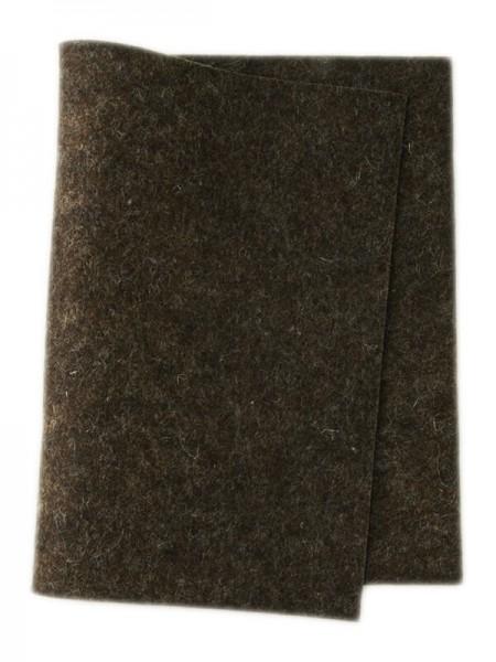 Wollfilz dunkelbraun meliert • 100 % reine Wolle
