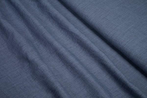 Polyester Baumwoll Stoff gecrashed uni jeansblau