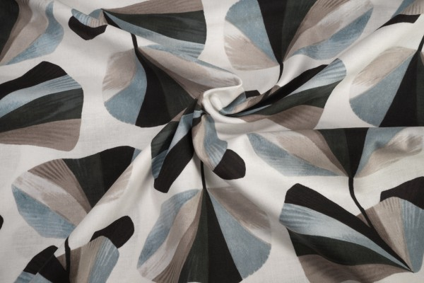 Cotton and Steel In Bloom Pebble Fabric by Sylvia Takken