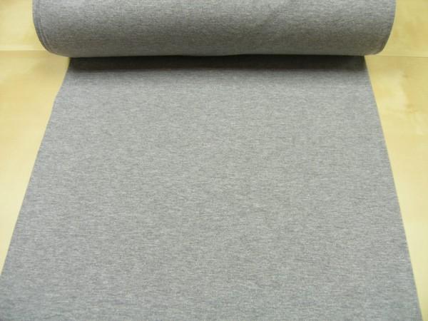 Bündchen hellgrau meliert Baumwoll Jersey glatt uni OEKO-TEX® Standard 100