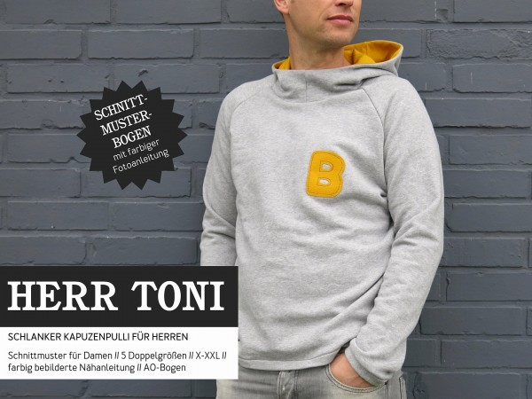 HERR TONI • Kapuzensweater, Papierschnitt, Deckblatt