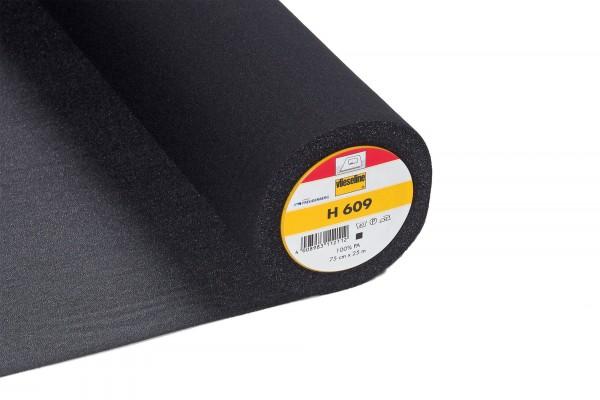 Vlieseline H 609 • Bügeleinlage bi-elastisch • schwarz
