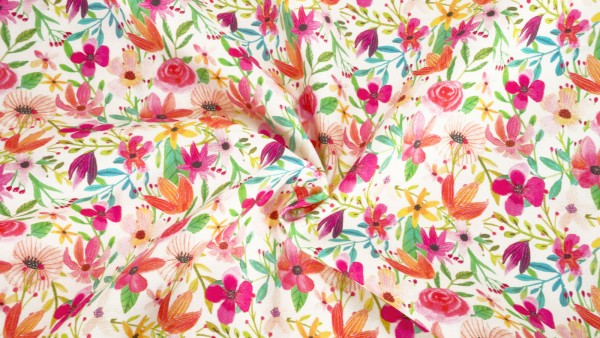 Blend Fabrics Forest Friends Floral Mixture 129 104 02 01 by Mia Charro