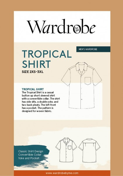 Men's Tropical Shirt, Papierschnitt,Wardrobe by me,Deckblatt