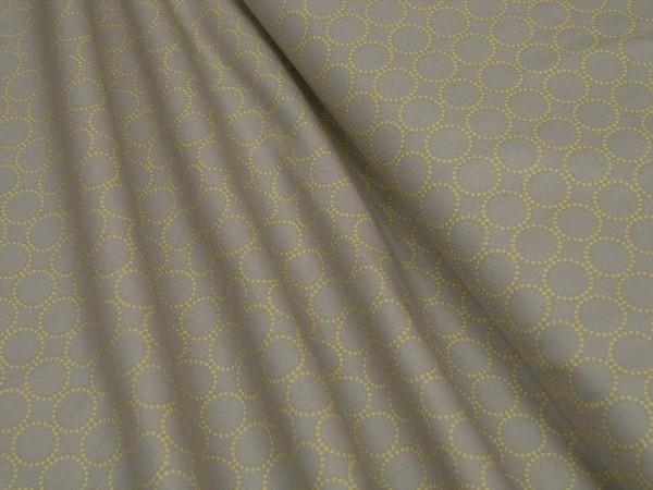 Moda Fabrics Sundrops Taupe 29014 24 Floral Circled Tan Baumwoll Stoff