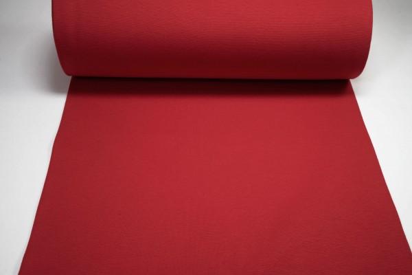 Bündchen glatt uni rot