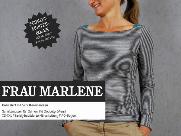 FRAU MARLENE • Shirt, Papierschnitt, Deckblatt