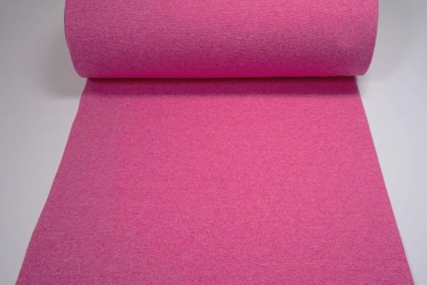 Bündchen glatt uni pink meliert