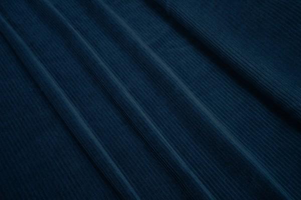 Feincord Jersey Conni nachtblau / leicht violett