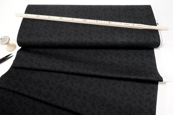 Wilmington Prints Essentials After Midnight Paisley Black on Black