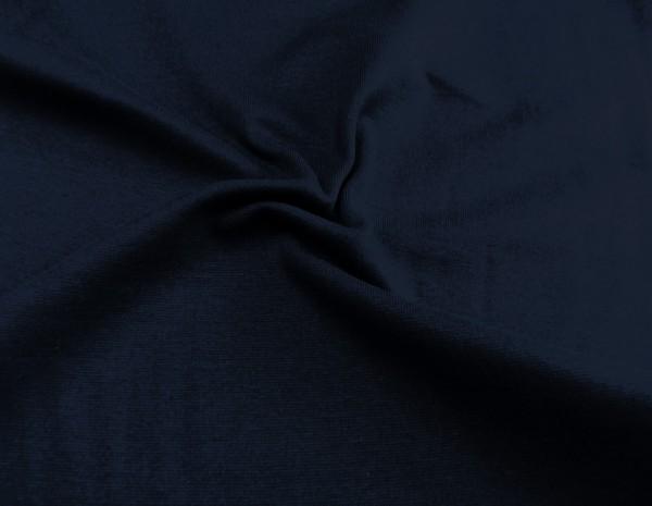 Bündchen glatt uni dunkel blau