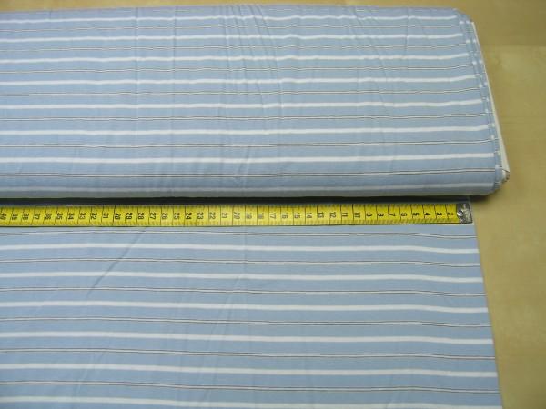 Sanetta • hellblau mit Streifen • Baumwoll Jersey
