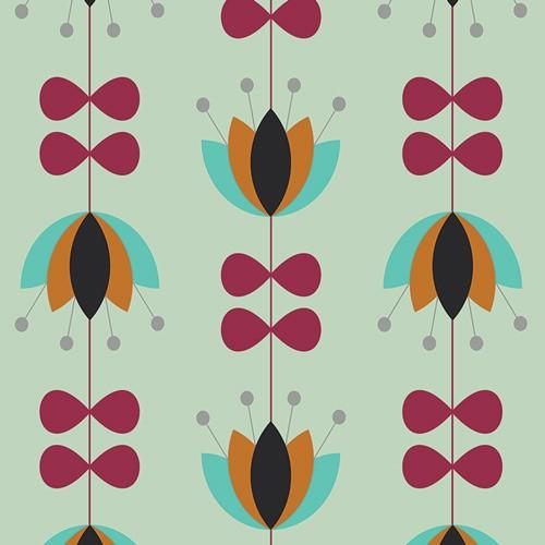 Art Gallery • Nordika • Tulip Vines Mint • Baumwoll Stoff