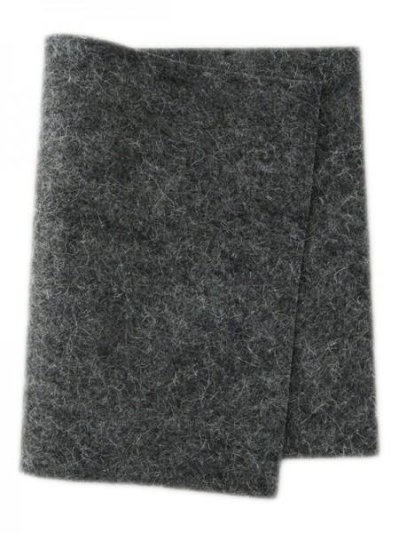 Wollfilz dunkelgrau meliert • 100 % reine Wolle